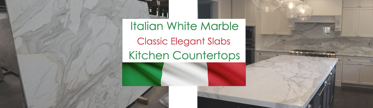 Italian white marble slabs for countertop