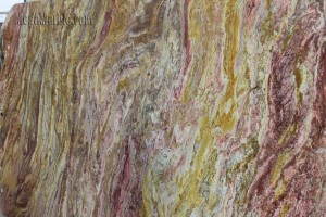 Quartzite Slab Yellow Bamboo